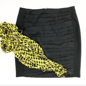 ANN TAYLOR tiered front silk pencil skirt | size 8